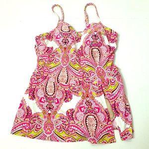 Women's Lkus Size 22 Cacique Swim Dress Swimsuit